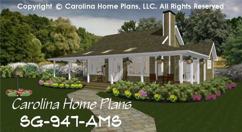 Small Country Guest Cottage House Plan SG-947-AMS Sq Ft ...