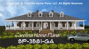 CHP-SP-3581-GA<br />Large Southern Plantation Style House Plan<br />3 Bedrms + Den, 2&#189; Baths 2 Story (Down)