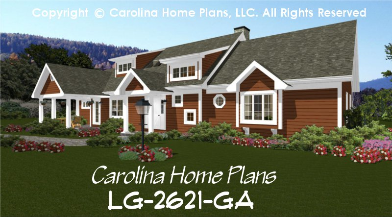 Large open floor house plan chp lg 2621 ga sq ft large for 5br house plans