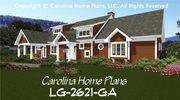 CHP-LG-2621-GA<br />Large Open Floor House Plan <br />4-5 Br, 4 Baths, 2 Story-Up