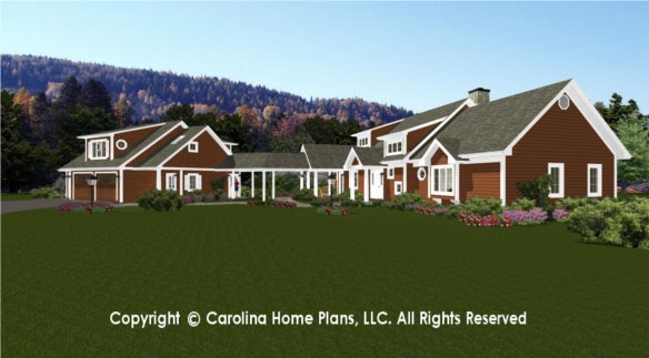 Large open floor house plan chp lg 2621 ga sq ft large for Big one story houses