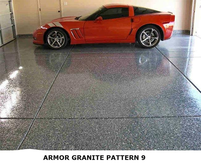 Garage Floor Epoxy Kit With Real Granite Look Armorgarage