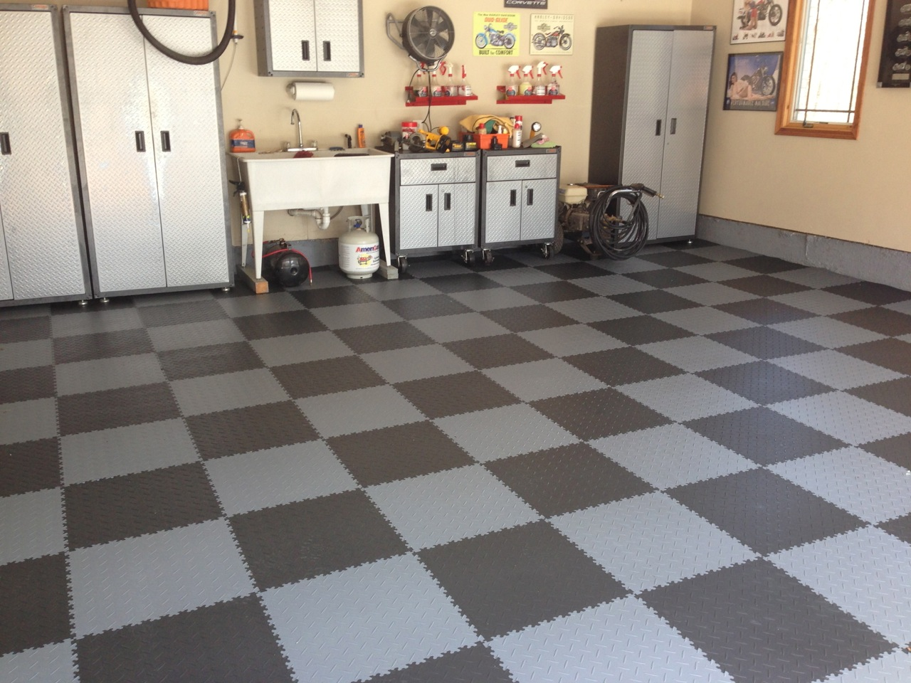 Diamond Pattern Garage Floor Tiles Armorgarage