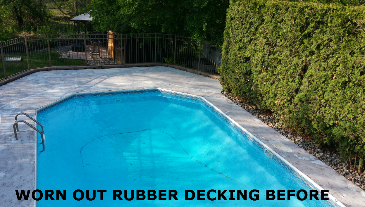 Pool roof deck rubberized epoxy coating armorgarage for Epoxy coating for swimming pools