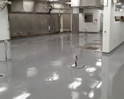 commercial kitchen floor coating kitchen amp correction facility epoxy flooring 5612