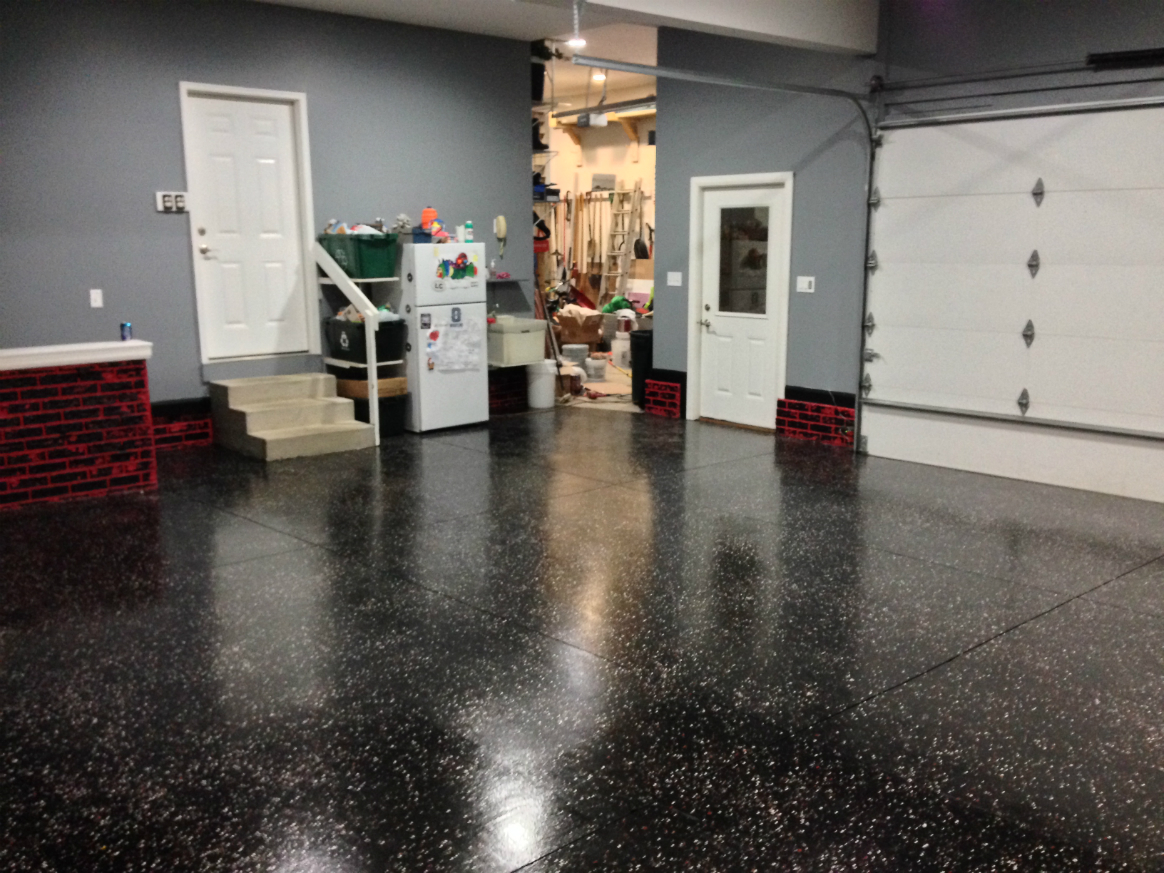 Epoxy flooring for garage commercial floors for Garage deck