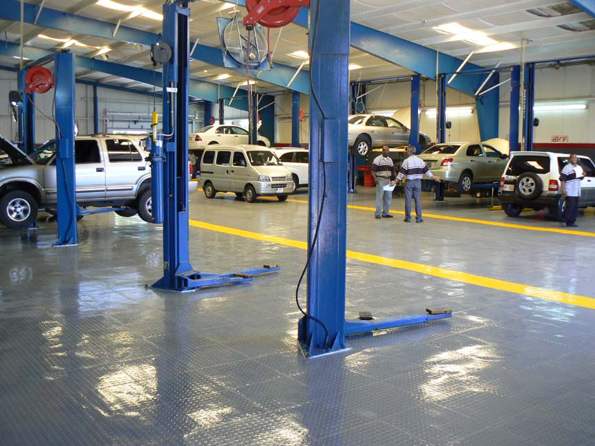 Heavy Duty Epoxy Flooring Services : Extra heavy duty garage floor tiles flooring