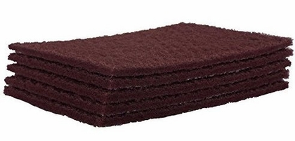 "3M 07447 Maroon Scotch Brite Scuff Pads  6""X 9"" ( pack of 5 pads)"