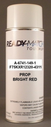A-6741-149-1 / F75KXR12320-4311    Bright Red Prop Aerosol 12 oz.
