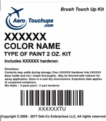 Acry Glo Solid Blue Colors 2 ounce (TU) Brush Touch Up Kits