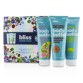 Bliss Buttah Bling Holiday Set: Lemon + Sage + Blood Orange + White Pepper + Grapefruit + Aloe