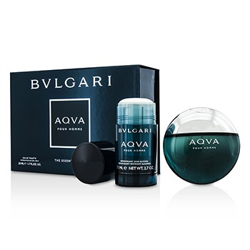 Bvlgari Aqva Pour Homme Coffret: Eau De Toilette Spray 50ml/1.7oz + Deodorant Stick 75ml/2.7oz