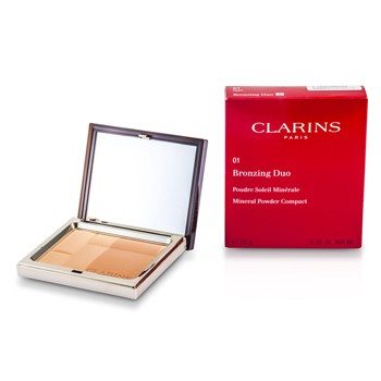 Clarins Bronzing Duo Mineral Powder Compact SPF 15 - 01 Light