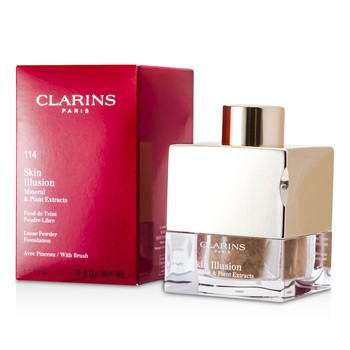 Clarins Skin Illusion Mineral Plant Extracts Loose Powder Foundation (With Brush) - # 108 Sand