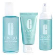 Clinique Acne Solutions Clear Skin Starter Kit Cleansing Foam + Clarifying Lotion + Clearing Moisturizer