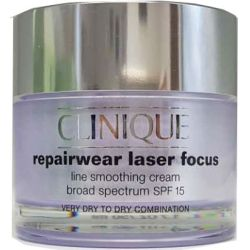 Clinique Repairwear Laser Focus Line Smoothing Cream SPF 15 1.7 oz Very Dry to Dry, Dry Combination