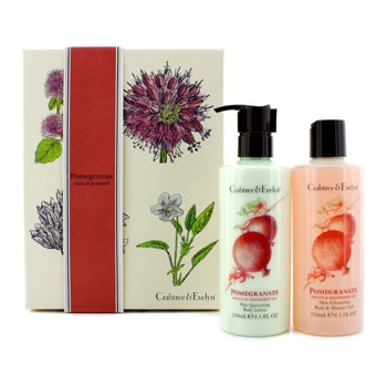 Crabtree & Evelyn Pomegranate, Argan Grapeseed Perfect Pair: Bath Shower Gel 250ml +  Body Lotion 250ml