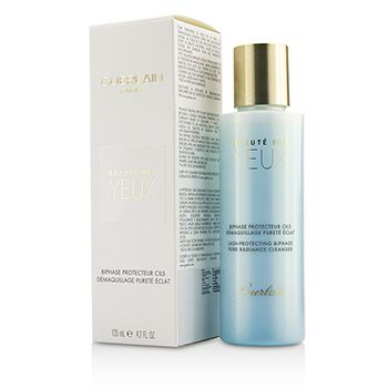 Guerlain Pure Radiance Cleanser - Beaute Des Yuex Lash-Protecting Biphase Eye Make-Up Remover