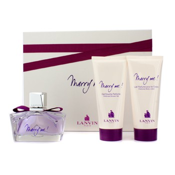 Lanvin Marry Me Coffret: Eau De Parfum Spray 75ml/2.5oz + Body Lotion 100ml/3.3oz + Shower Gel 100ml/3.3oz