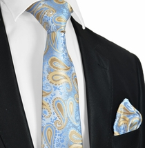 Alaskan Blue Tie and Pocket Square Set