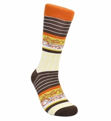 Almond Cotton Dress Socks by Paul Malone