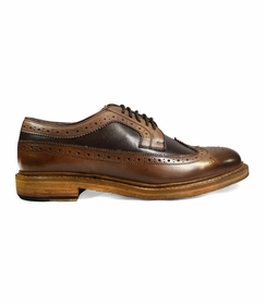 Antique Brown Wing Tips by Paul Malone