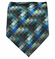 Aqua Patterned Men's Necktie
