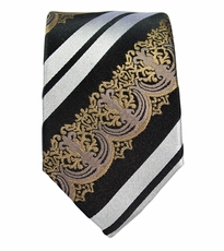 Baroque Slim Necktie by Paul Malone . 100% Silk