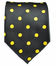 Black and Gold Polka Dots Necktie