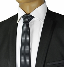 Black and Silver Slim Tie