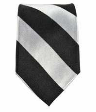 Black and Silver Slim Tie by Paul Malone . 100% Silk