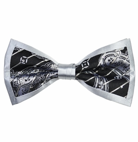 Black and Silver Steven Land Crystal Bow Tie Set