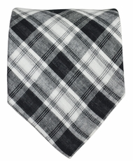 Black and White Cotton Tie by Paul Malone Red Line
