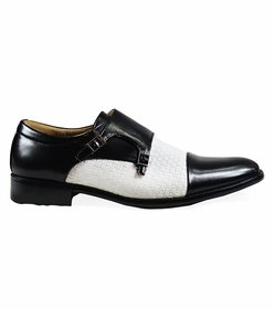 Black and White Monk Straps