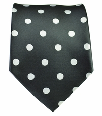 Black and White Polka Dot Necktie