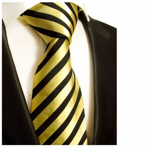 Black and Yellow Silk Tie by Paul Malone (335)