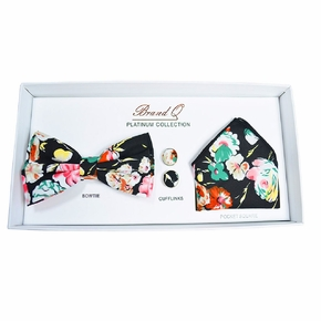 Black Floral Bow Tie Gift Box