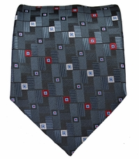 Black, Red and White Men's Tie