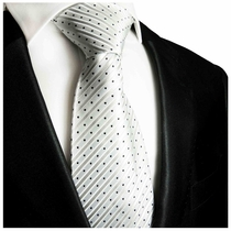 Black & Silver Paul Malone Silk Tie (423)