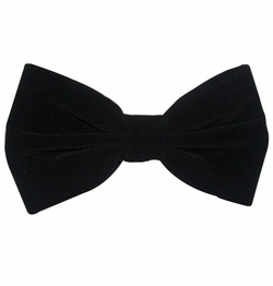 Black Velvet Bow Tie and Pocket Square Set