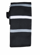 Black, White and Silver Knit Tie by Paul Malone (KN658)