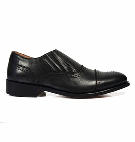 Black Wing-tip Loafers, All Leather by Paul Malone  �