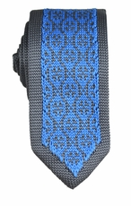 Blue and Gray Knit Tie by Paul Malone (KN662)