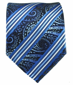 Blue and White Men's Tie