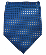 Blue and Yellow Polka Dot Mens Tie