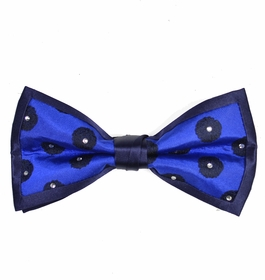 Blue Crystal Bow Tie Set by Steven Land
