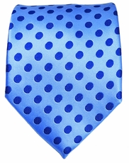 Blue Dotted Men's Necktie
