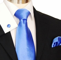 Blue Necktie Set by Paul Malone (840CH)