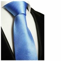 Blue Paul Malone Neck Tie, 100% Silk (502)