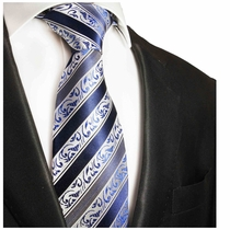 Blue Paul Malone Silk Necktie (855)